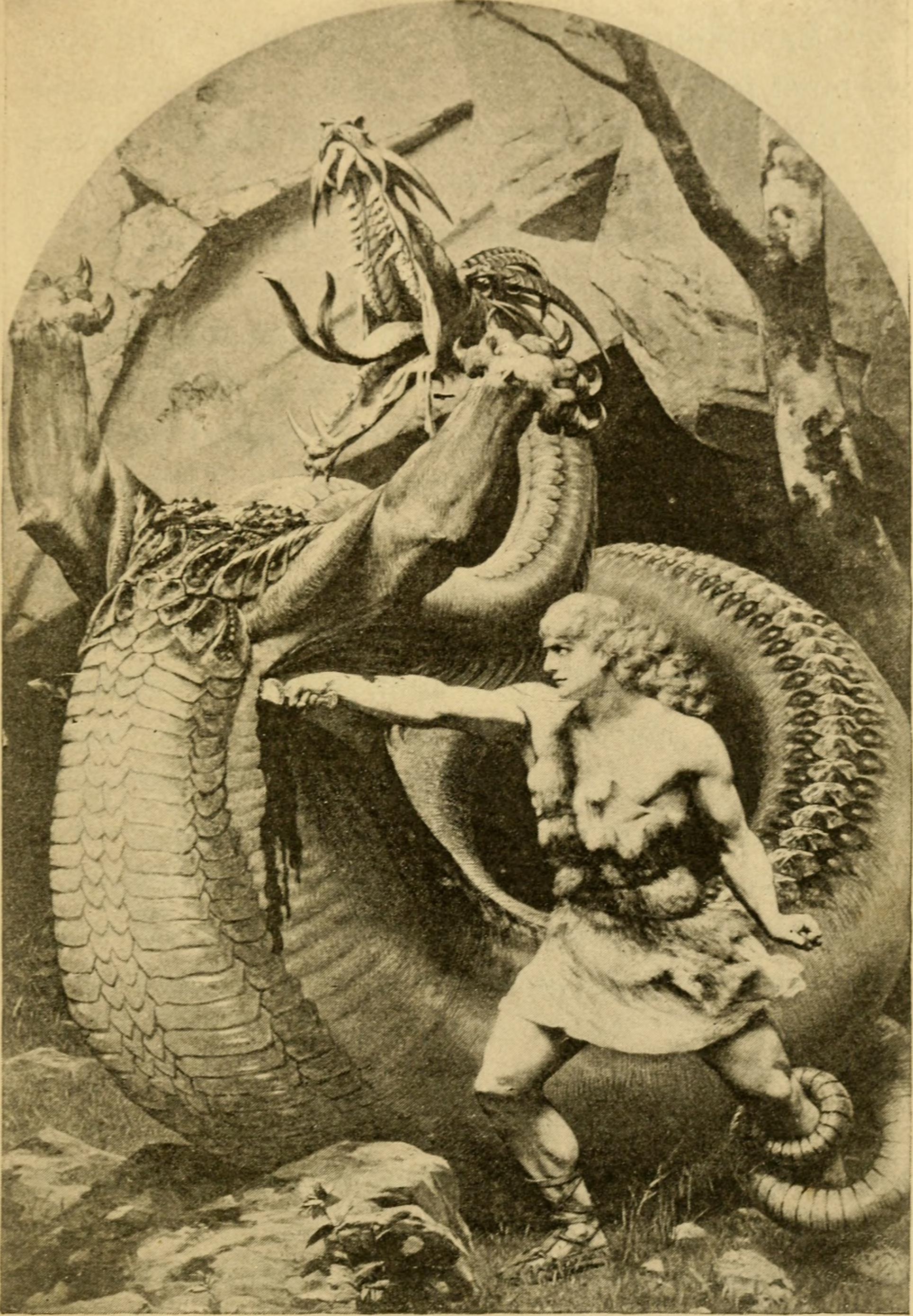 Sigurd kills Fafnir